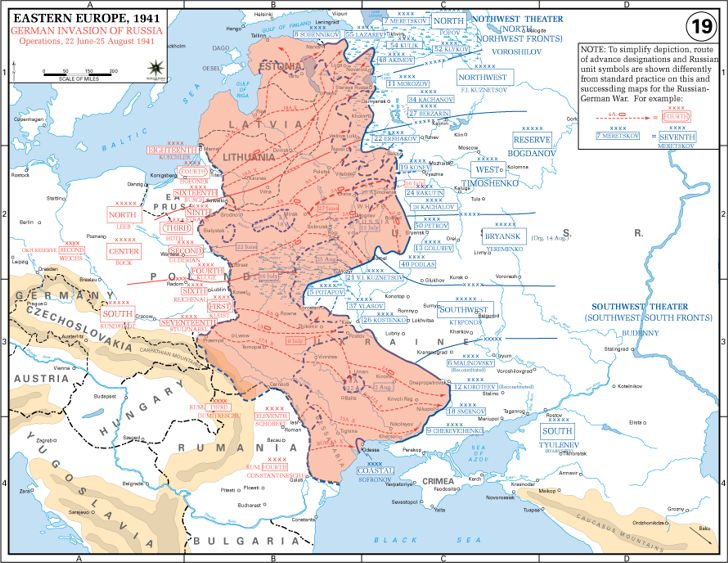Map of Operation Barbarossa: Frontier Battles