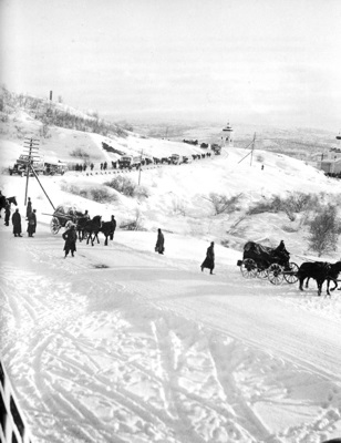 German troops advancing through snow